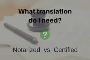 Certified vs Notarized